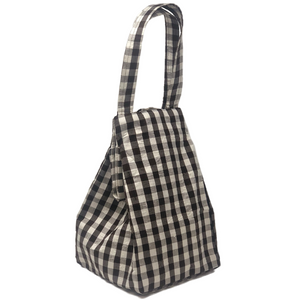 GINGHAM BROWN WHITE EVERYDAY BAG
