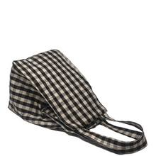 Load image into Gallery viewer, GINGHAM BROWN WHITE EVERYDAY BAG