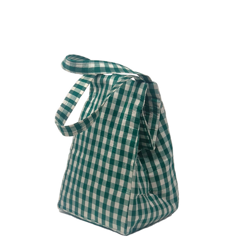 GINGHAM TEAL EVERYDAY BAG