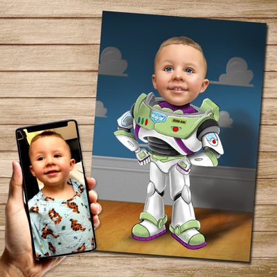 Buzz Lightyear Custom Canvas Mural Heroes Digital Artwork only (NO CANVAS)