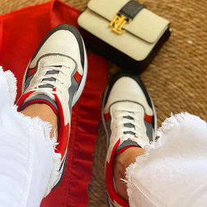 Zapatillas con plataforma - High Bake White