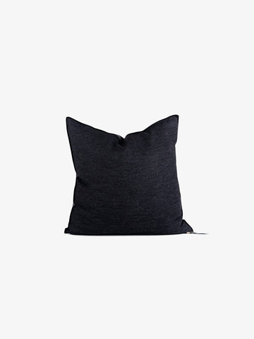 Washed Linen Vice Versa Cushion in Anthracite (3 sizes avail)