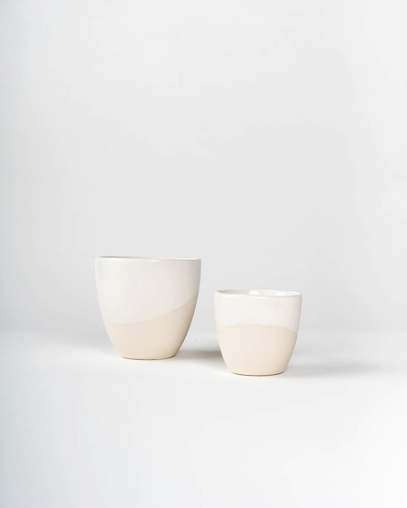 Handmade Ceramic Coffee Cup, White on White