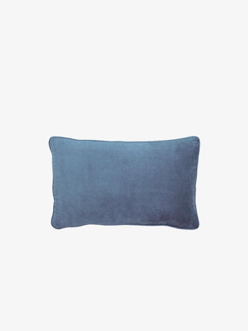 Velvet Lumbar Cushion, Dusty Blue