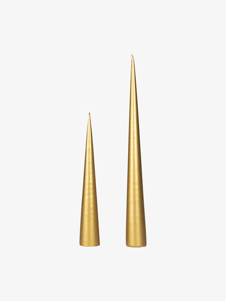 Cone Candle in Gold (avail in 2 sizes)