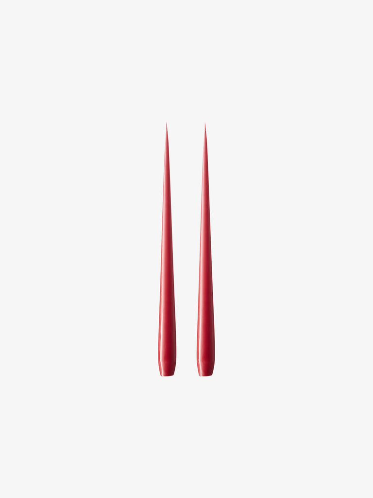 Taper Candle in Dusty Red, 2pc (avail in 2 sizes)