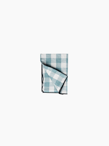 Gingham Linen Napkin - Set of 6, Aqua