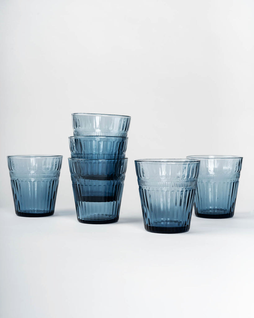 Glass Tumbler, Grey (Set of 6)