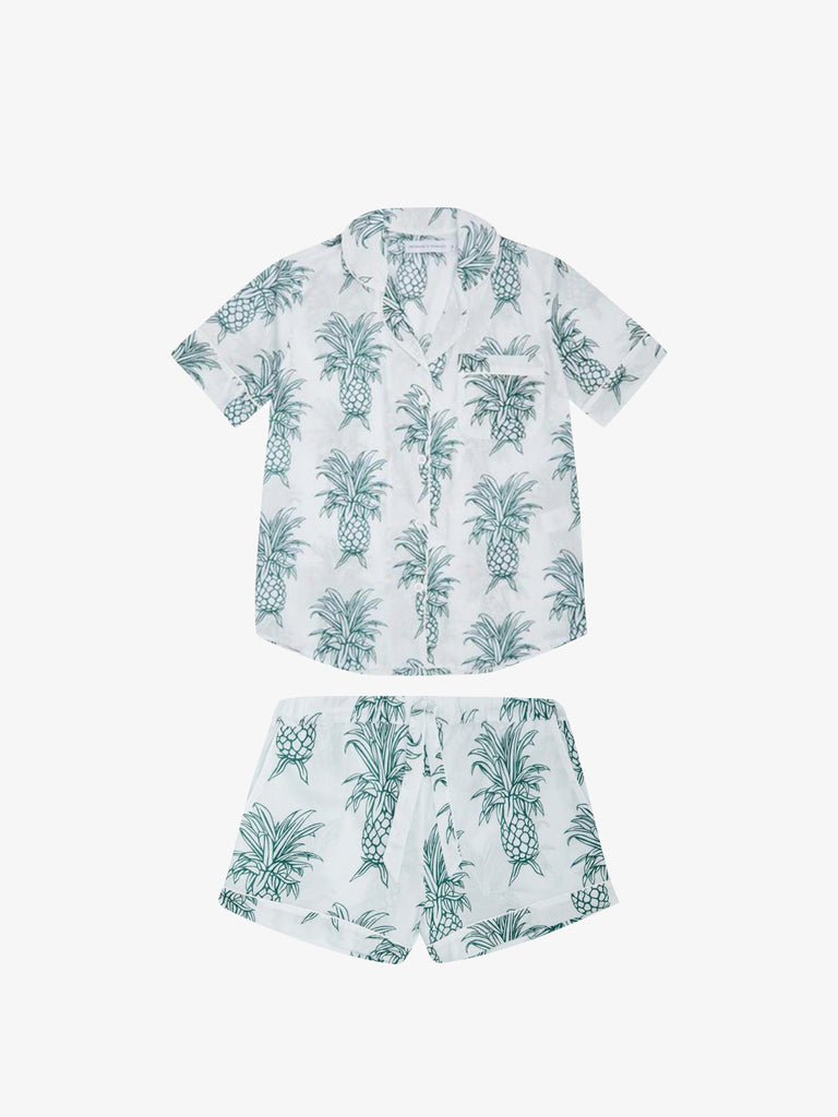 Short Sleeve Pyjama Set in Howie Pineapple Print