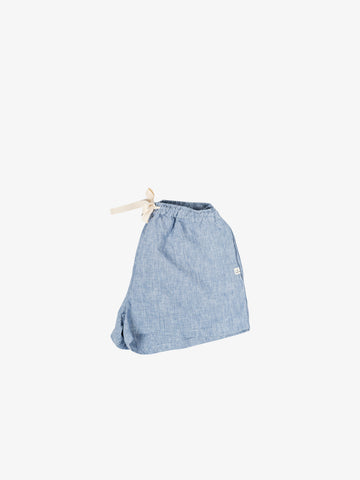 Linen Pyjama shorts in Blue