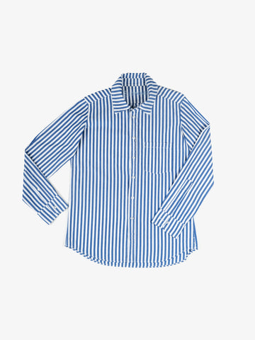 Franklin Bold Stripe Shirt in Indigo