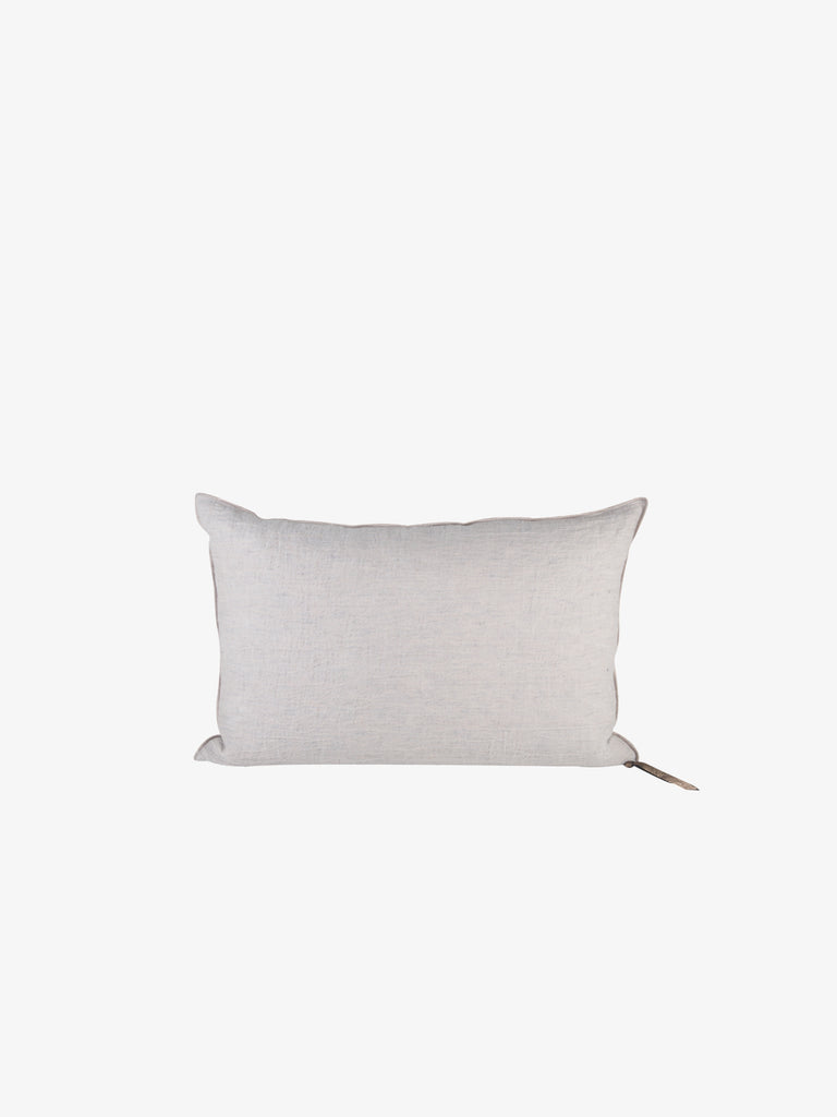 Washed Linen Vice Versa Cushion in Pearl (3 sizes avail)