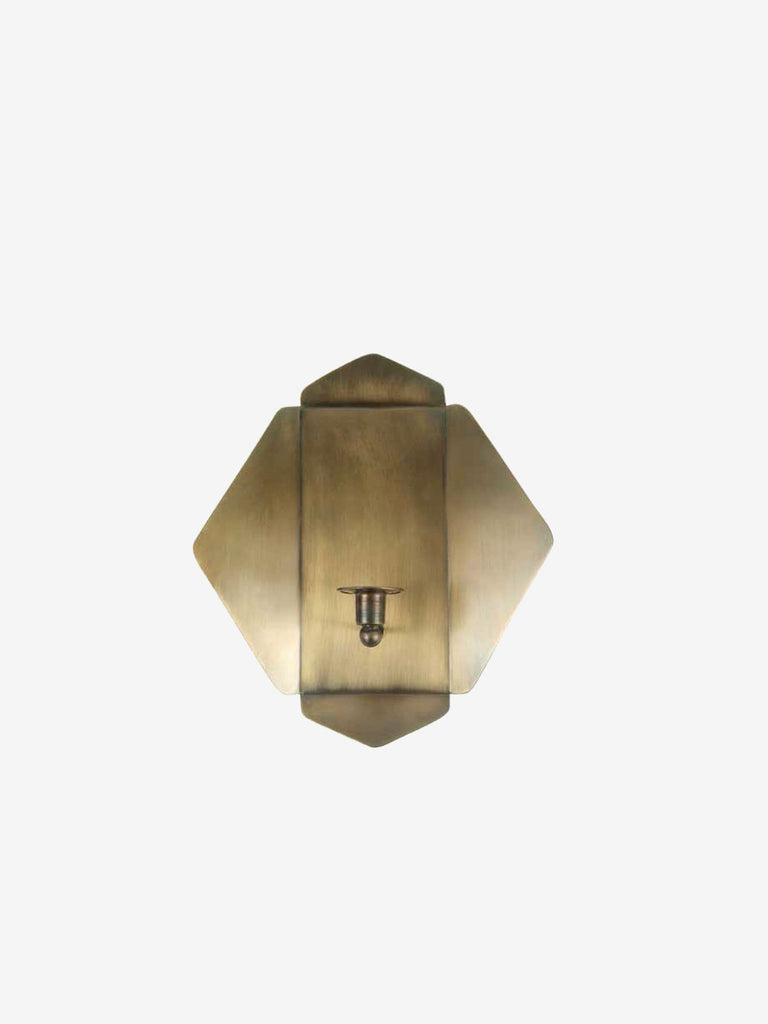 Quarterfold Brass Wall Sconce