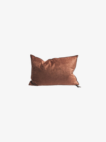 Royal Velvet Cushion in Argile (3 sizes avail)