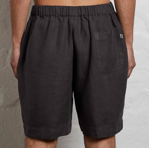 Men's Linen Pyjama shorts in Kohl
