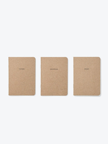 Set of 3 Notebooks 'Victories, Regrets and Expectations'