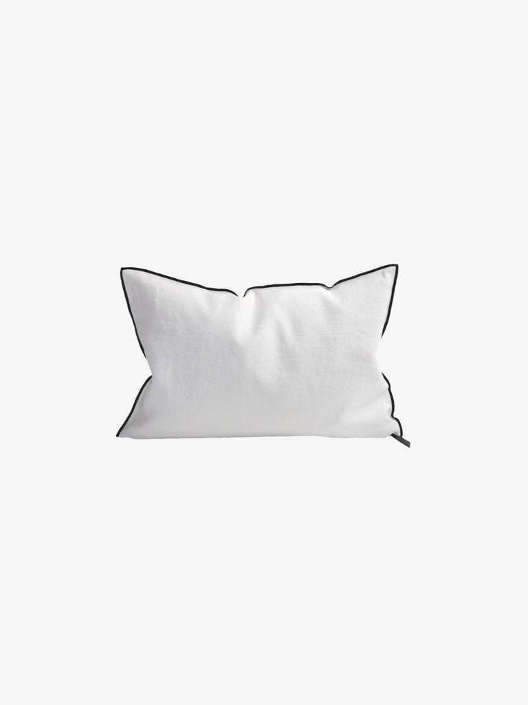 Stone Washed Linen Cushion in Blanc (3 sizes avail)
