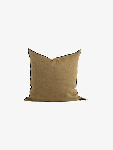 Stone Washed Linen Cushion in Kaki (3 sizes avail)