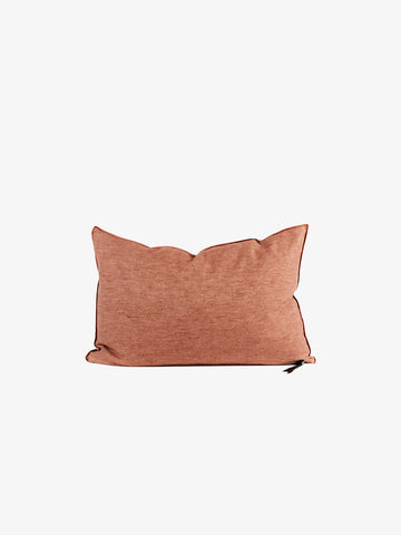 Washed Linen Vice Versa Cushion in Blush (3 sizes avail)