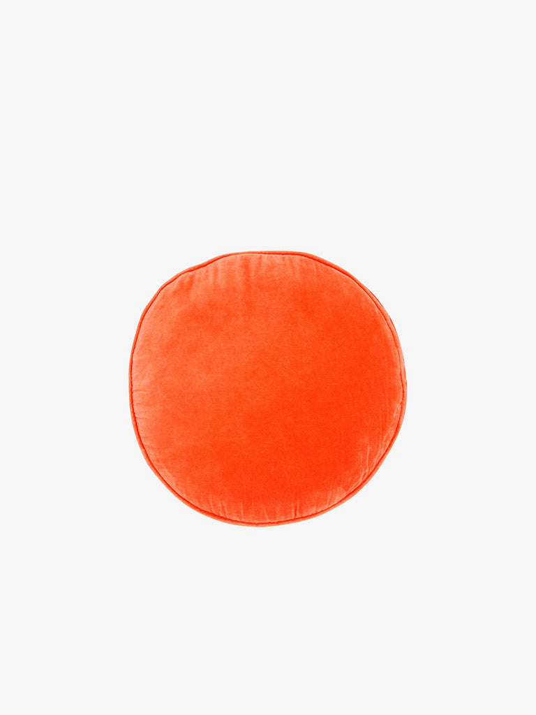 Velvet Penny Round Cushion, Watermelon