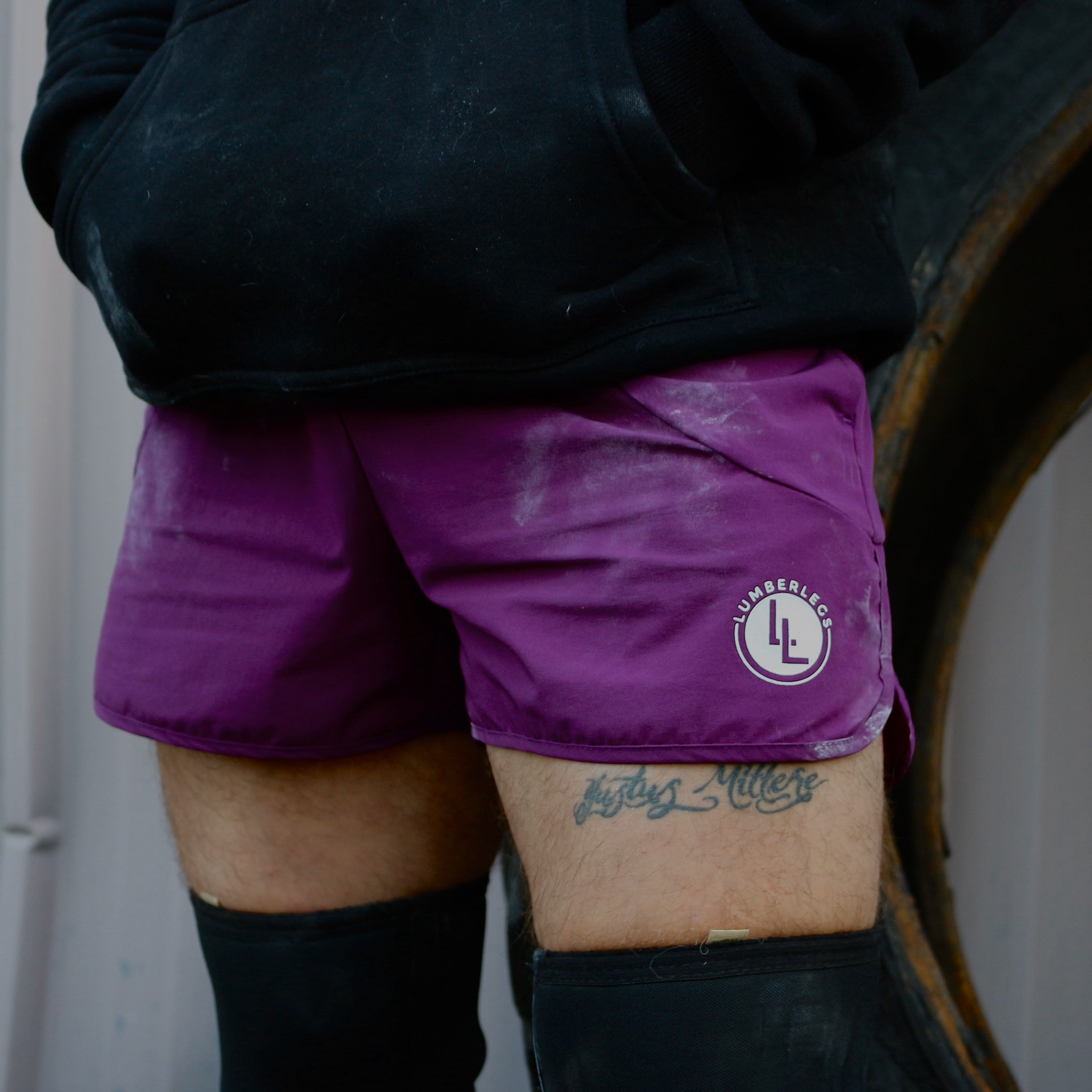 LEG DAY SHORTS ROYAL PLUM