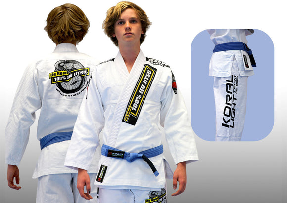 2017 Adult de Been Jiu Jitsu White Light Gi (belt not included)
