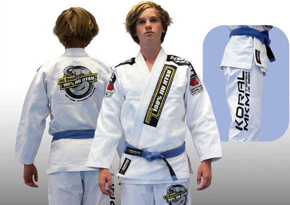 2017 Adult de Been Jiu Jitsu White Competition Gi (belt not included)