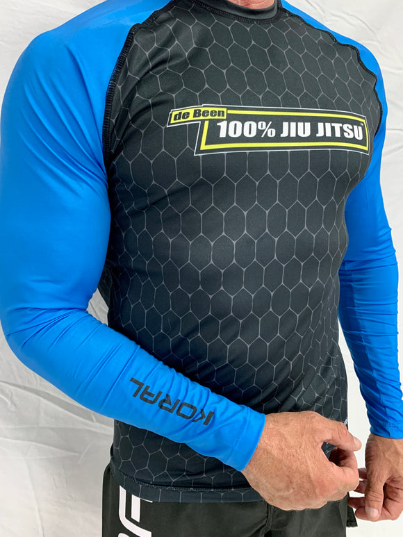 2021 Rash Guard Blue Long Sleeve Black Body