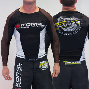 2019 Rash Guard Brown Long Sleeve