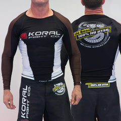 BROWN Long Sleeve Rash Guard