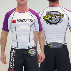 PURPLE Short Sleeve Rash Guard