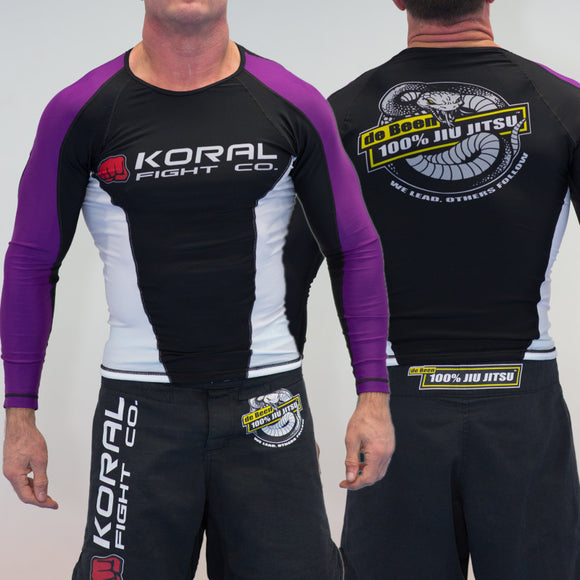 2019 Rash Guard Purple Long Sleeve