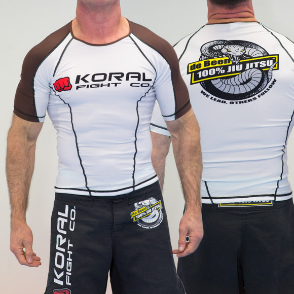 2019 Rash Guard Brown Short Sleeve