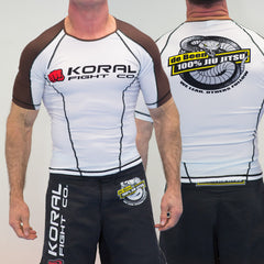 BROWN Short Sleeve Rash Guard