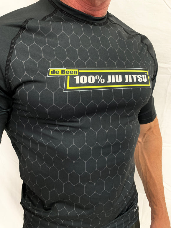 2021 Rash Guard Black Short Sleeve Black Body