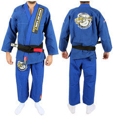 Junior de Been Jiu Jitsu Royal Blue Gi - Woven Adult Style Gi(belt not included)