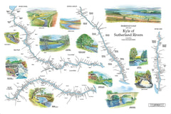 Fisherman's map of the main Kyle of Sutherland rivers
