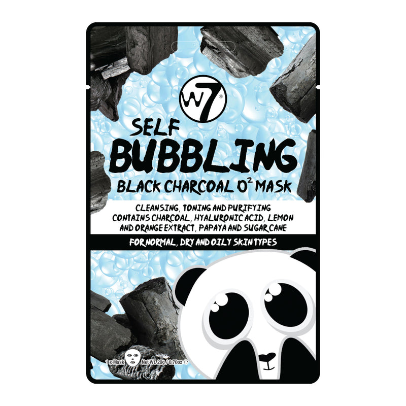 W7 Self Bubbling Black Charcoal O2 Face Mask - LSF Dermal Fillers
