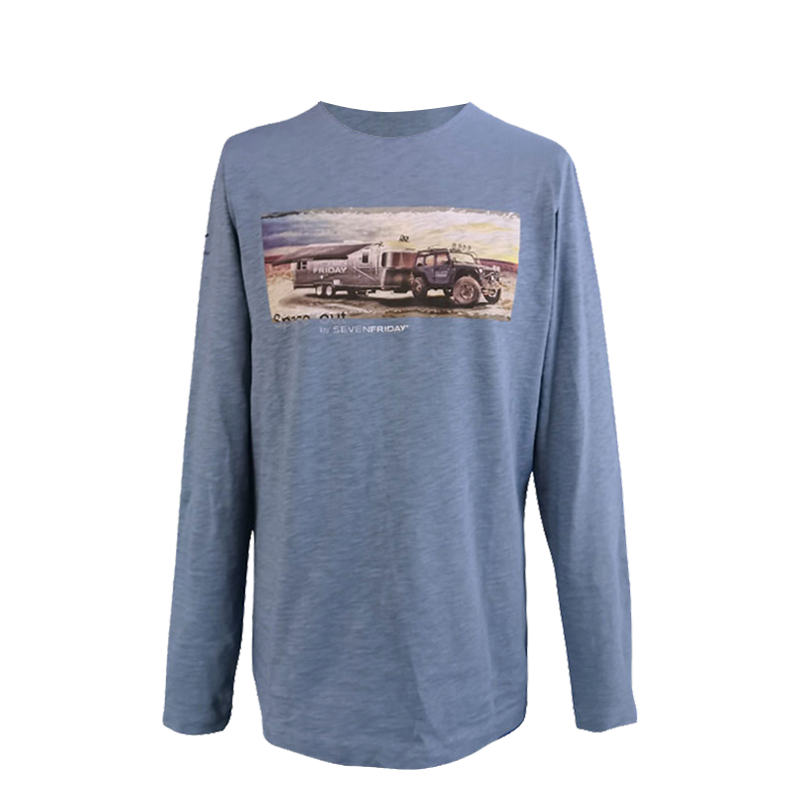 Tee shirt, Long Sleeve Blue
