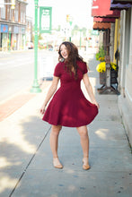 Load image into Gallery viewer, SALE - Gilli Red Dress w/ Ruffled Neck