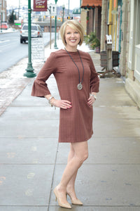 SALE - She + Sky Bell Sleeve Dress