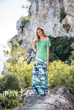 Load image into Gallery viewer, Marble Multicolored Maxi Skirt