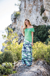 Marble Multicolored Maxi Skirt