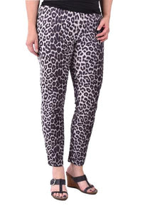 Ethyl Grey Leopard Print Leggings