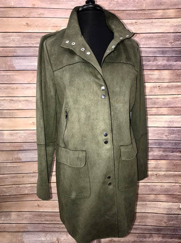 SALE - Tribal Olive Suede Jacket