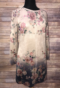 SALE - Joh Floral Suede Dress