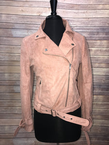 Le Lis Suede Jacket - Blush