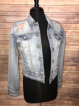 Load image into Gallery viewer, Tribal Embroidered Denim Jacket