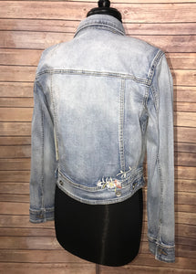 Tribal Embroidered Denim Jacket