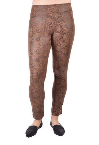 Ethyl Poly Suede Leggings in Snake Skin